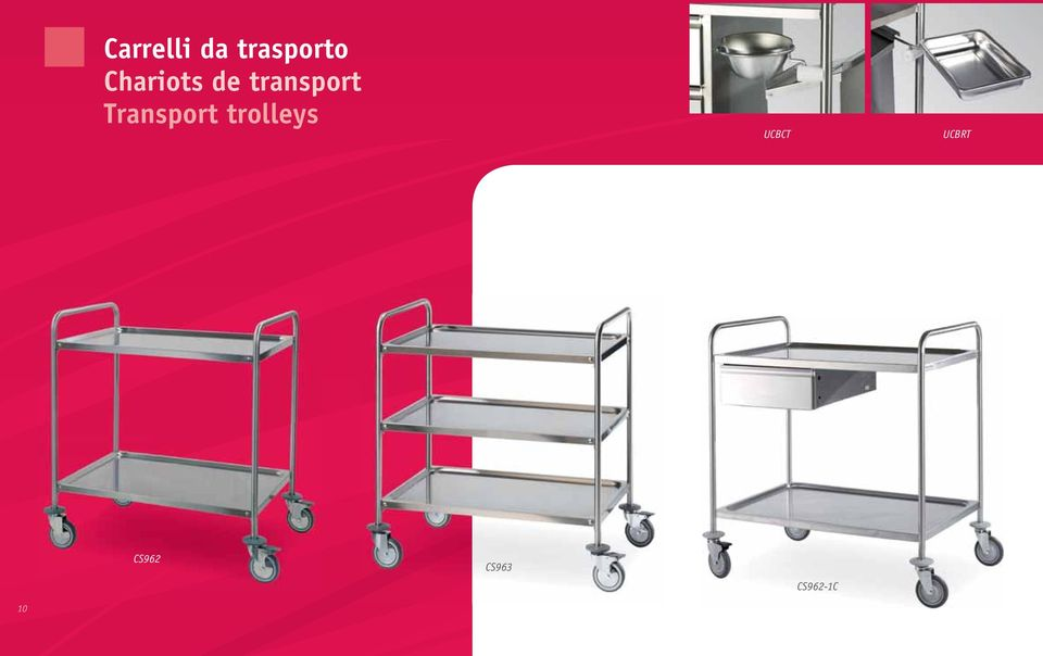 Transport trolleys UCBCT