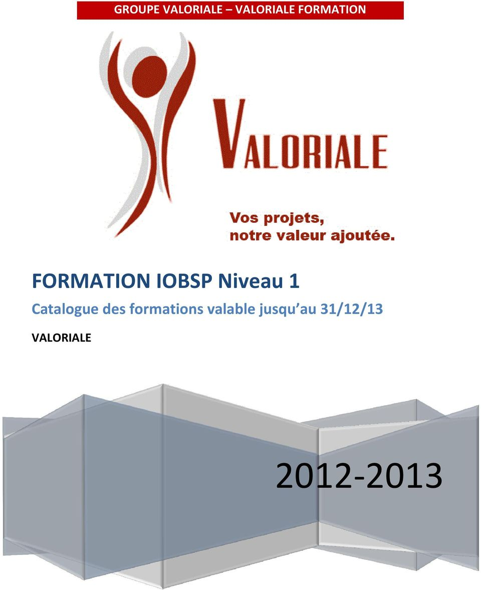 1 Catalogue des formations