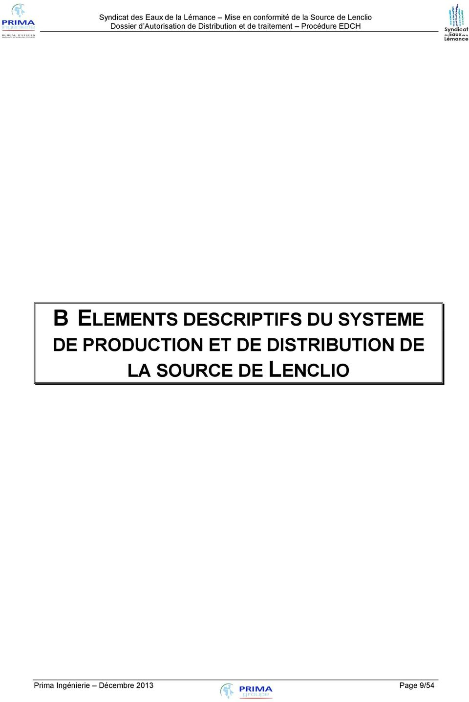 DISTRIBUTION DE LA SOURCE DE