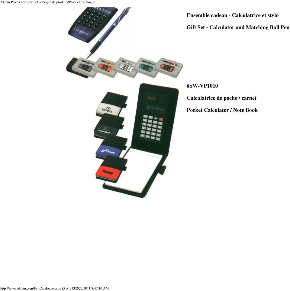 de poche / carnet Pocket Calculator / Note Book