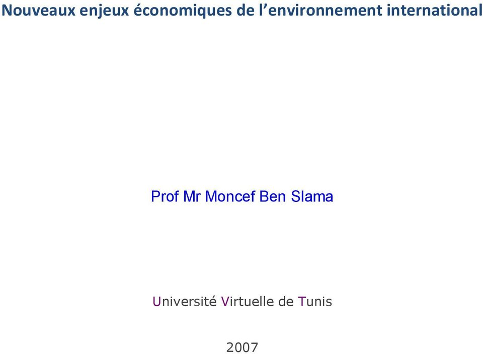 international Prof Mr Moncef