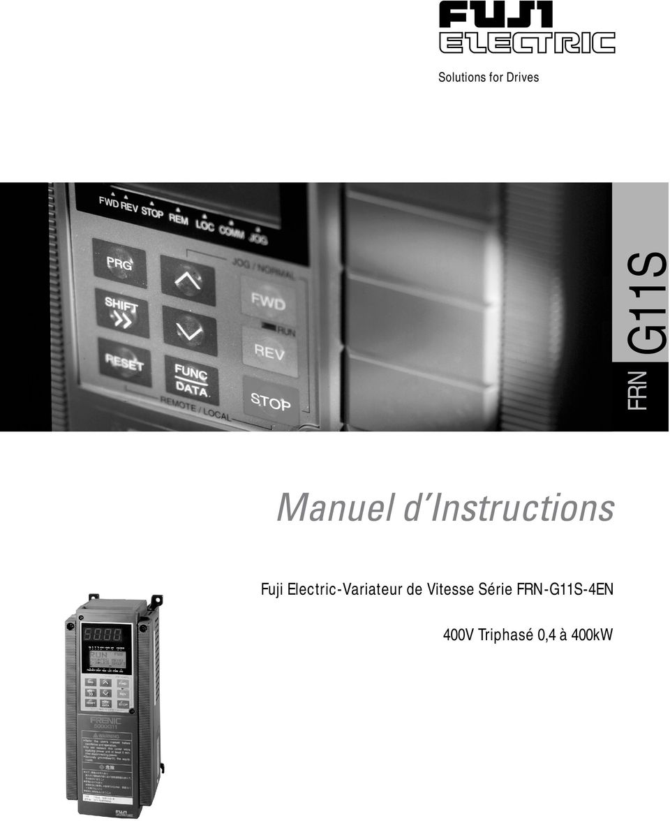 G11S Solutions for Drives Manuel d Instructions
