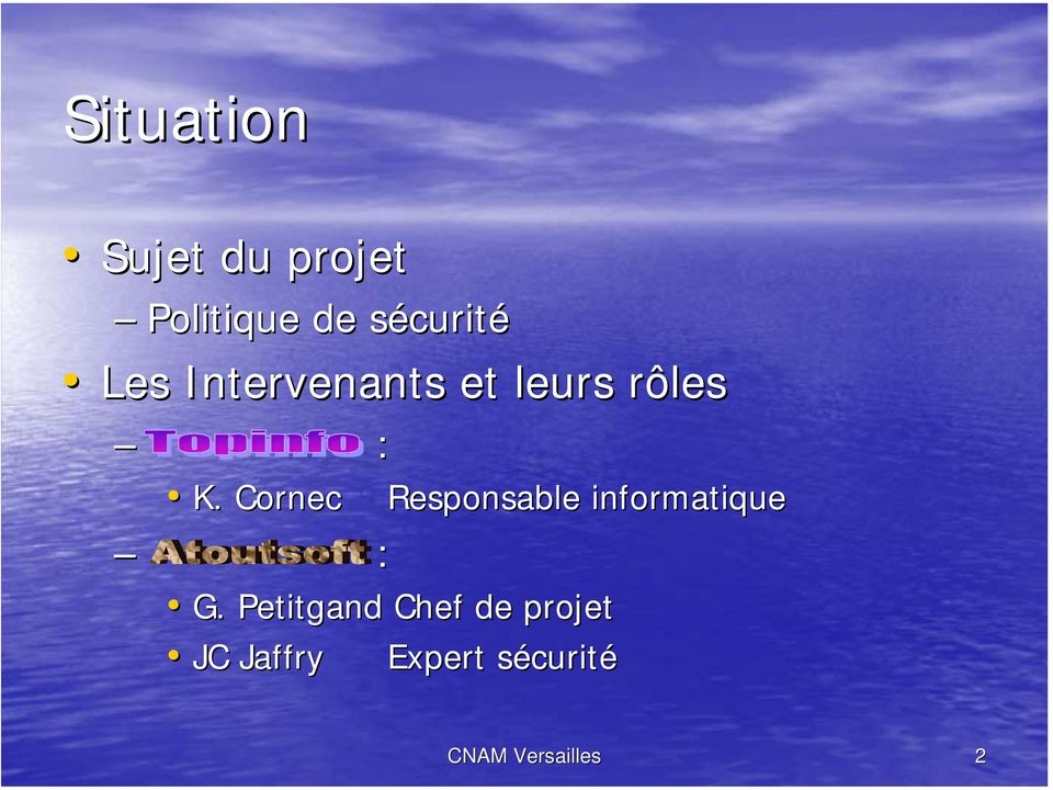 Cornec : Responsable informatique G.