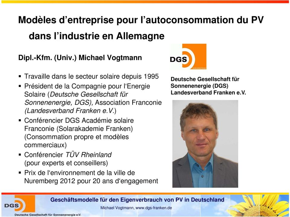 DGS), Association Franconie (Landesve
