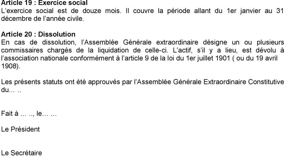 liquidation de celle-ci.