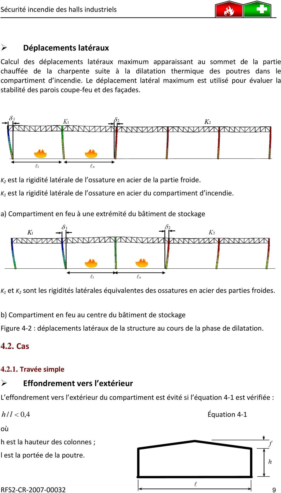 Guide de conception s curit incendie des halls for Portique traction exterieur