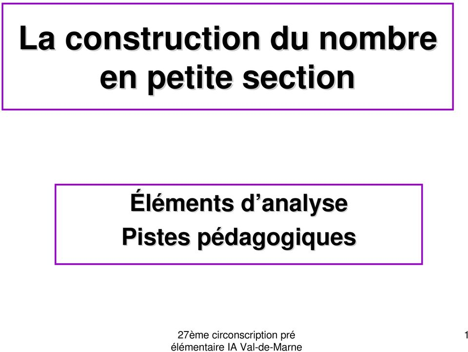 section Éléments d
