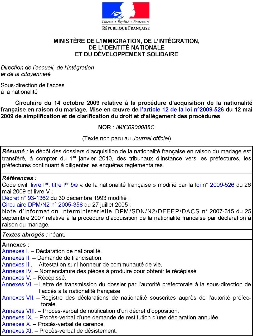 Minist re de l immigration de l int gration de l - Office francaise d immigration et d integration ...