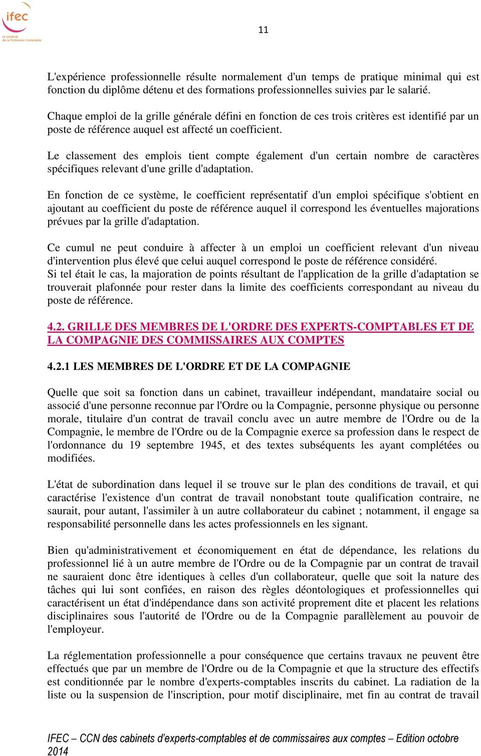 Convention collective nationale pdf - Classement cabinet expertise comptable ...
