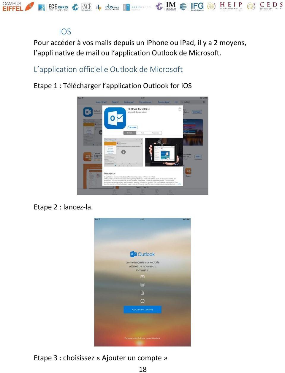 L application officielle Outlook de Microsoft Etape 1 : Télécharger l