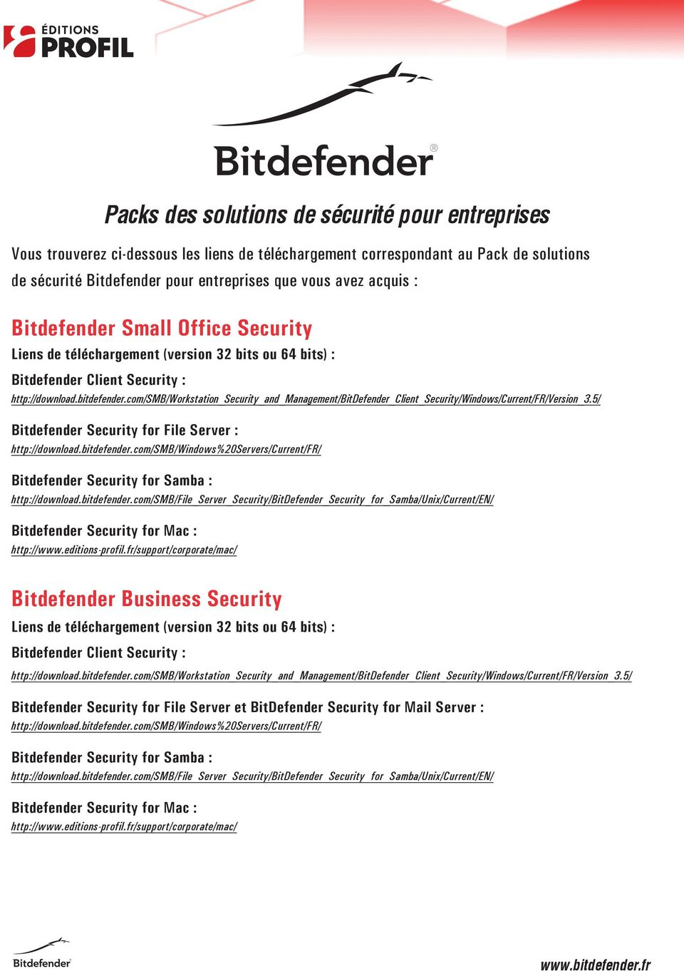 Small Office Security Bitdefender Security for File Server : Bitdefender Security for Samba : Bitdefender