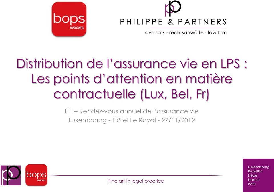 contractuelle (Lux, Bel, Fr) IFE