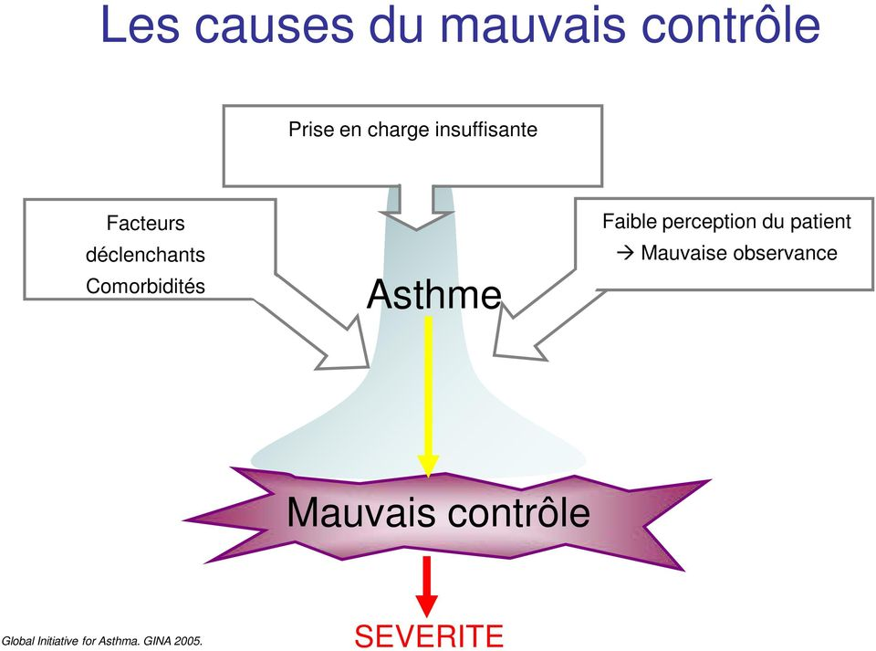 Faible perception du patient Mauvaise observance