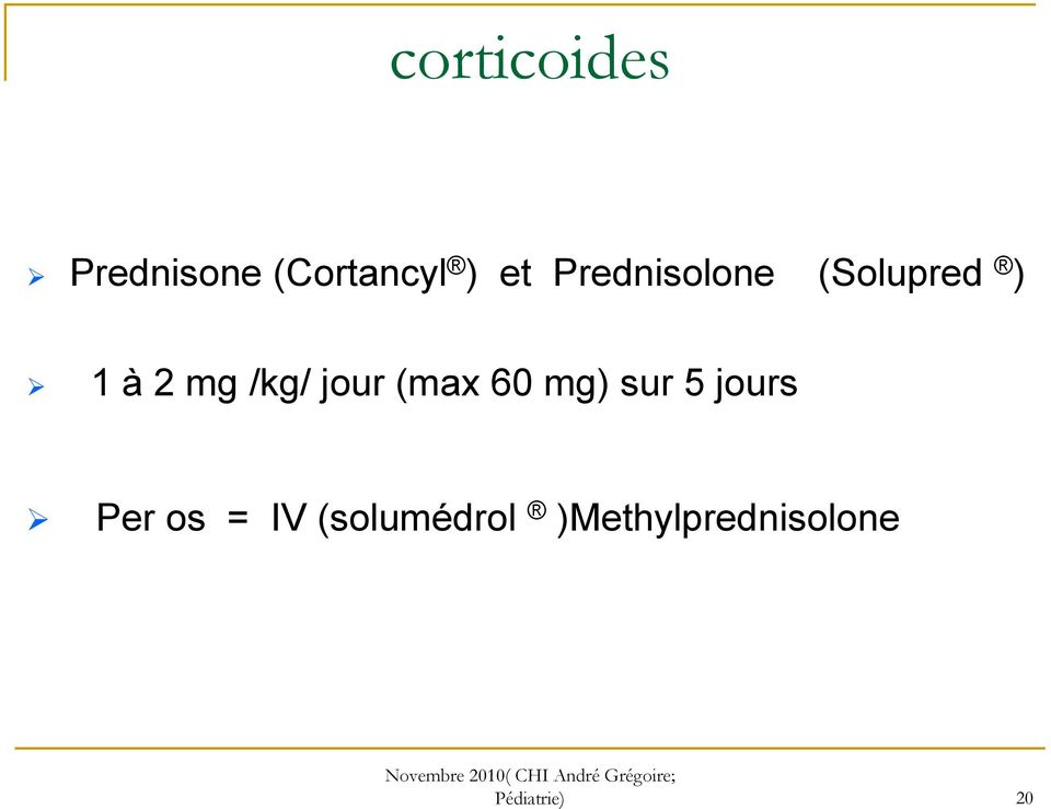 Cortancyl 20 mg - Carabiens le Forum