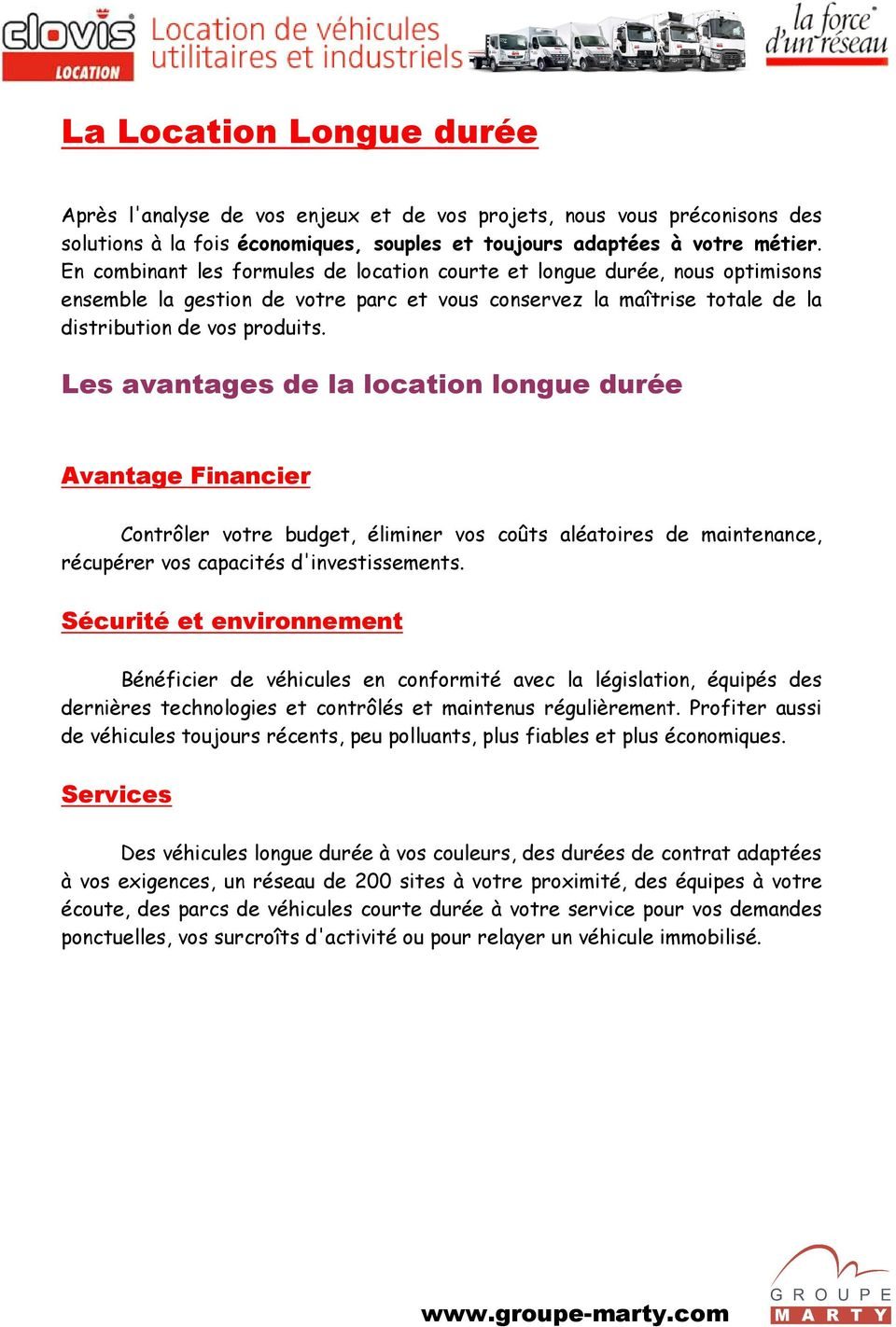clovis location groupe marty pr sentation de nos services pdf. Black Bedroom Furniture Sets. Home Design Ideas