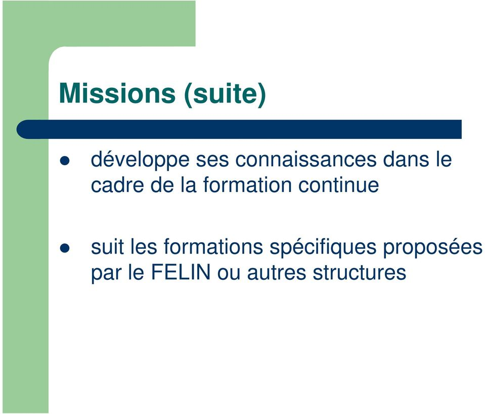 formation continue suit les formations