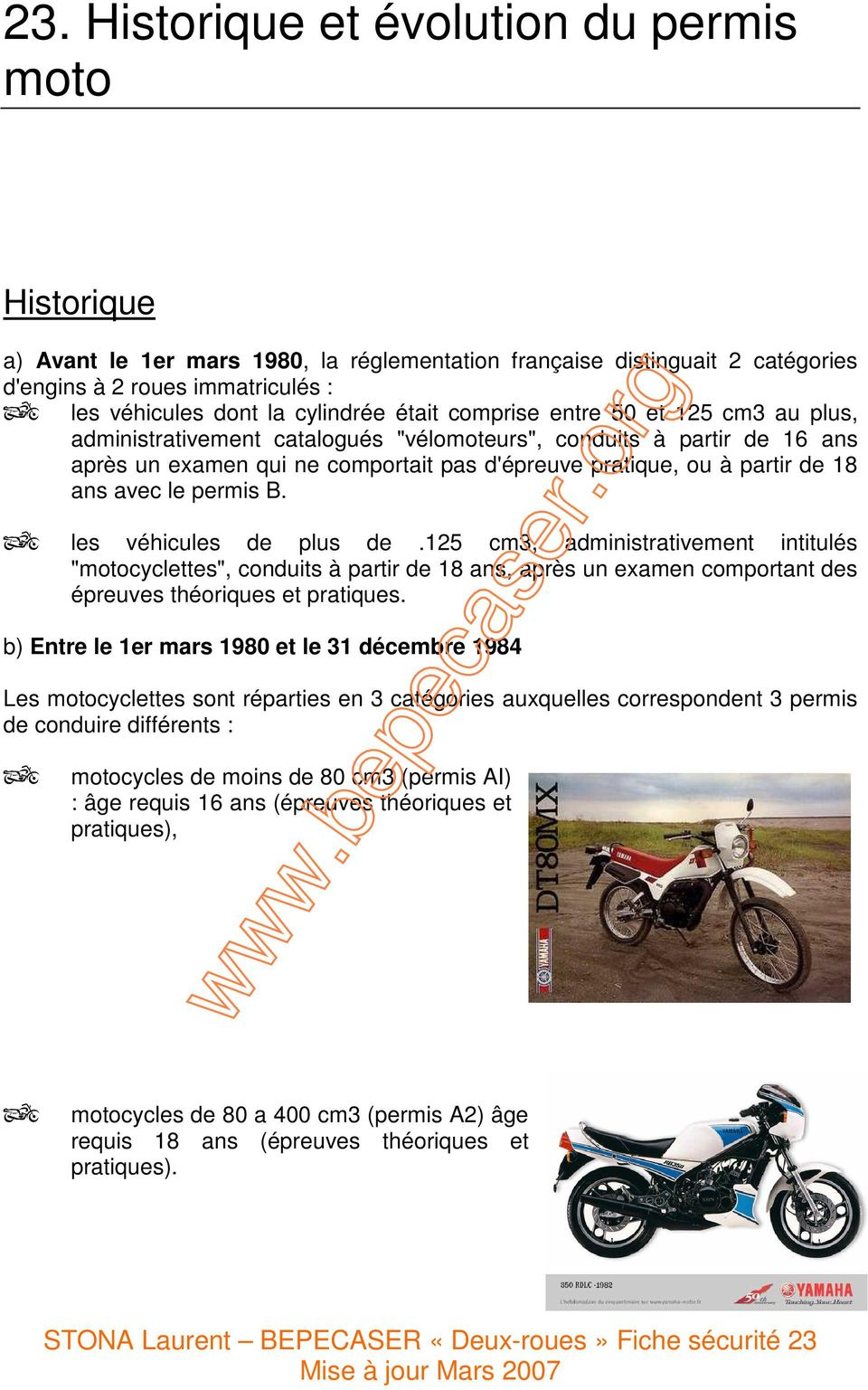 23 historique et volution du permis moto pdf. Black Bedroom Furniture Sets. Home Design Ideas