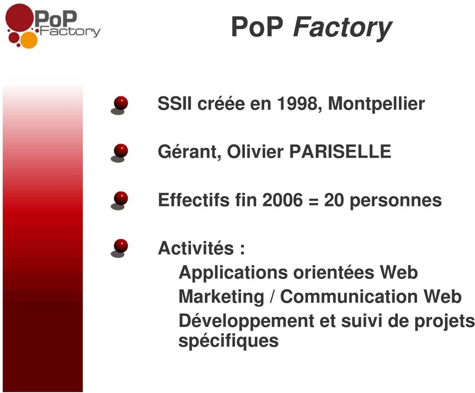 Activités : Applications orientées Web Marketing /