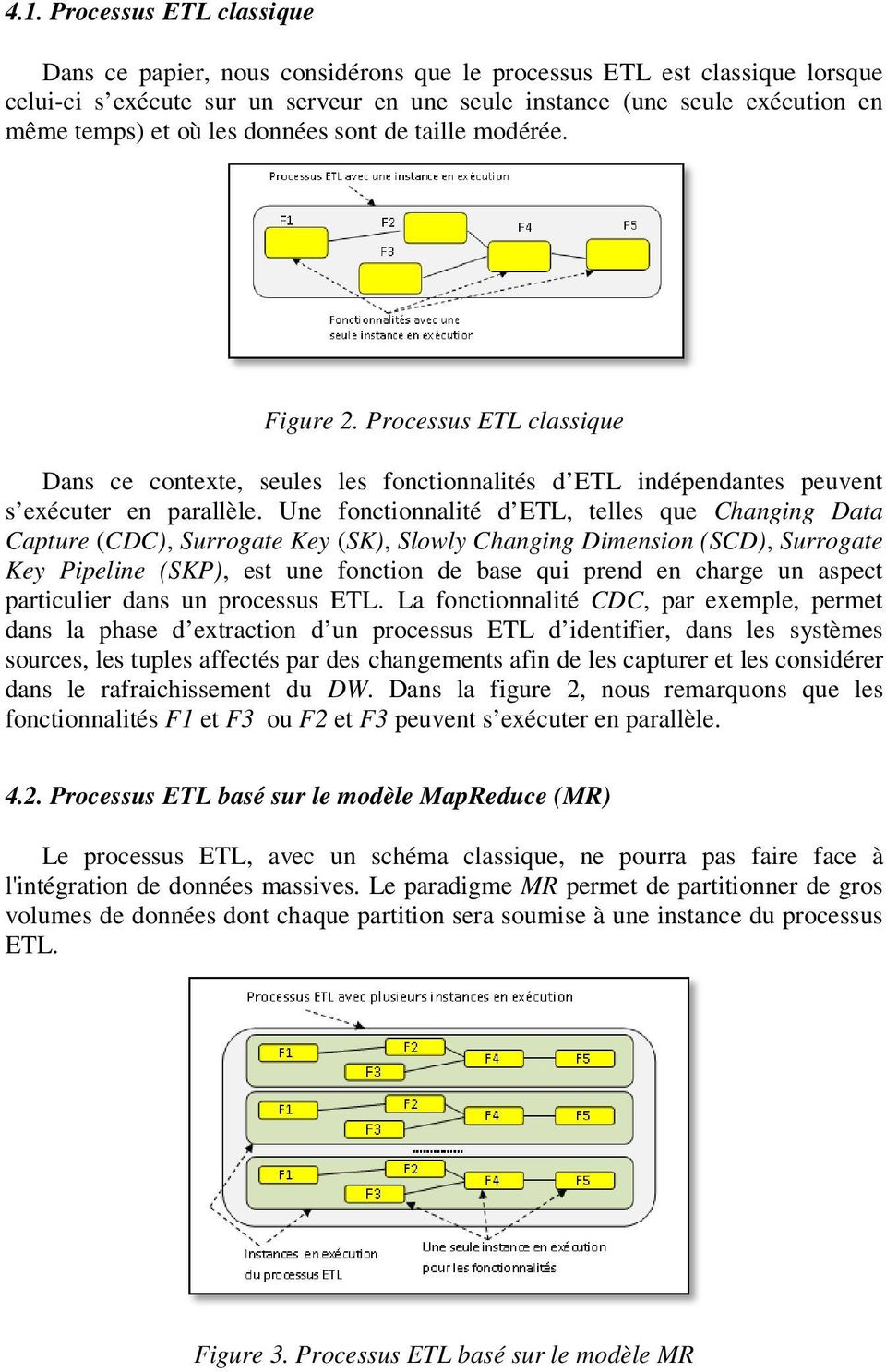 Une fonctionnalité d ETL, telles que Changing Data Capture (CDC), Surrogate Key (SK), Slowly Changing Dimension (SCD), Surrogate Key Pipeline (SKP),, est une fonction de base qui prend en charge un