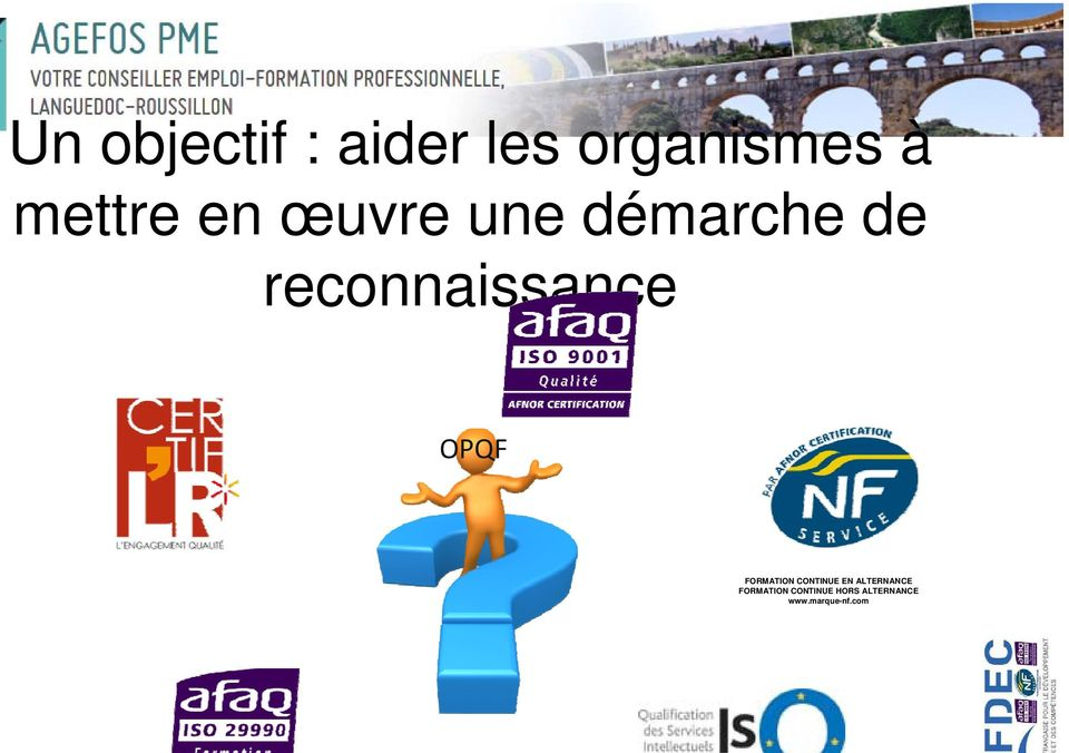 OPQF FORMATION CONTINUE EN ALTERNANCE