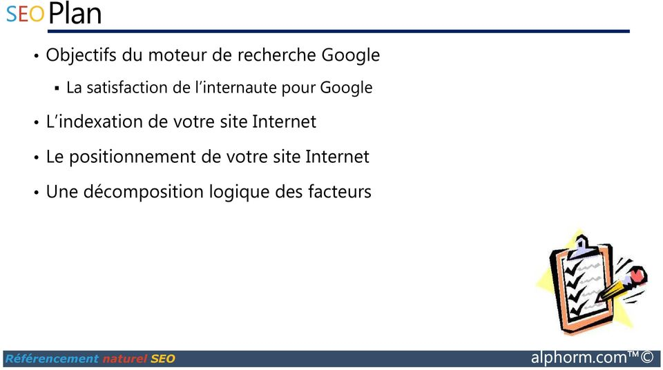 indexation de votre site Internet Le positionnement