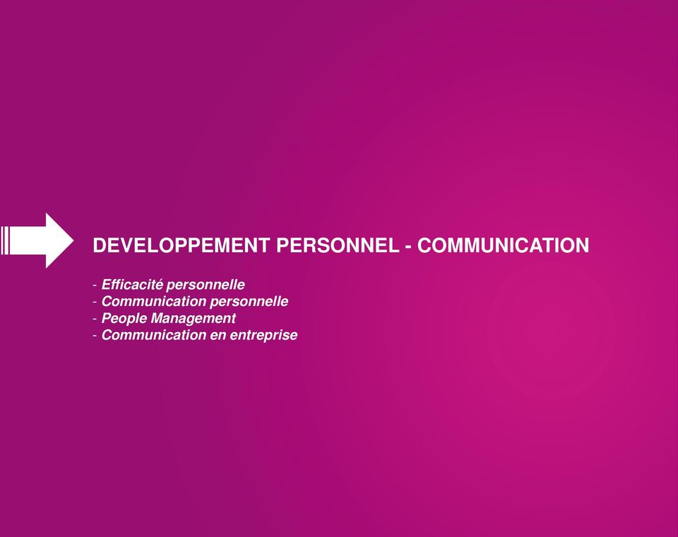 personnelle - Communication