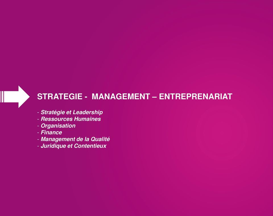 Humaines - Organisation - Finance -