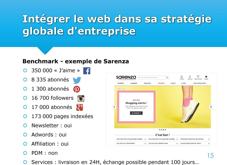 abonnés 173 000 pages indexées Newsletter : oui Adwords : oui Affiliation :