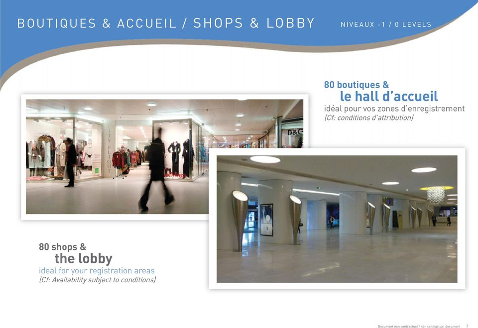 attribution) 80 shops & the lobby ideal for your registration areas (Cf: