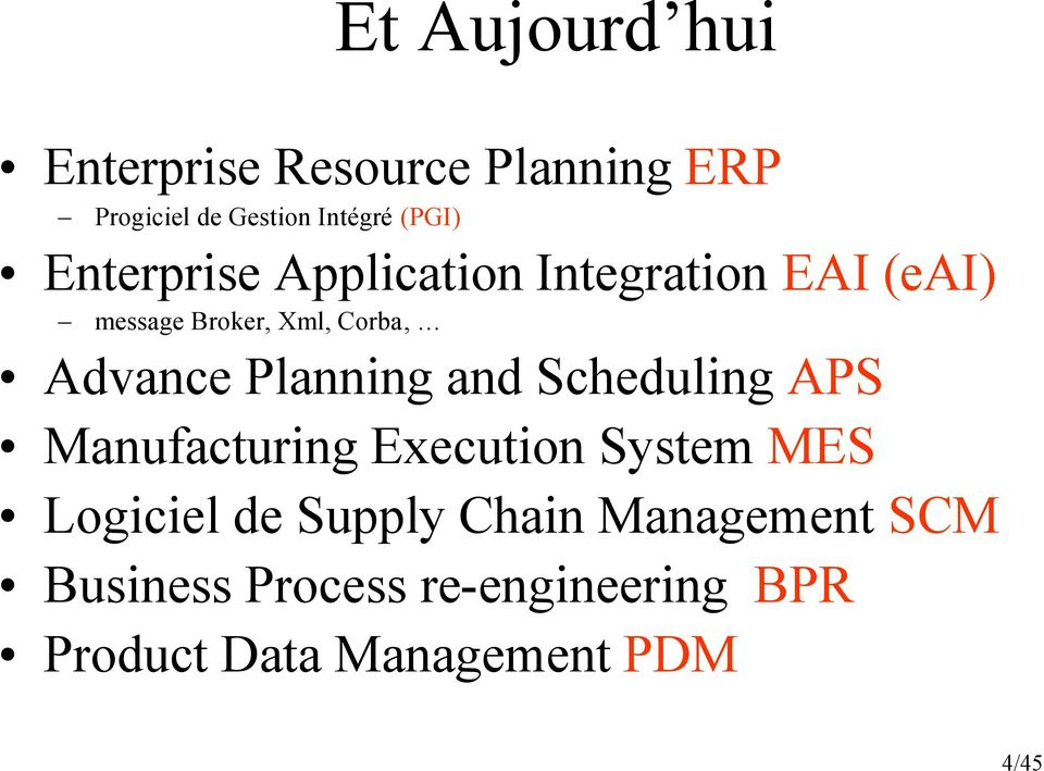 Planning and Scheduling APS Manufacturing Execution System MES Logiciel de Supply