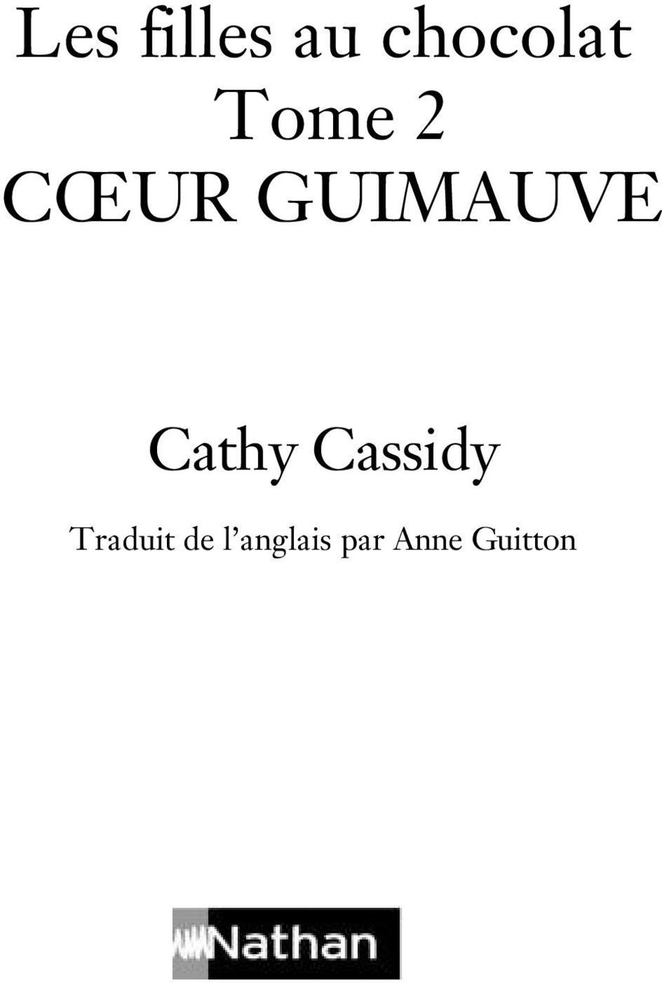 Cathy Cassidy Traduit