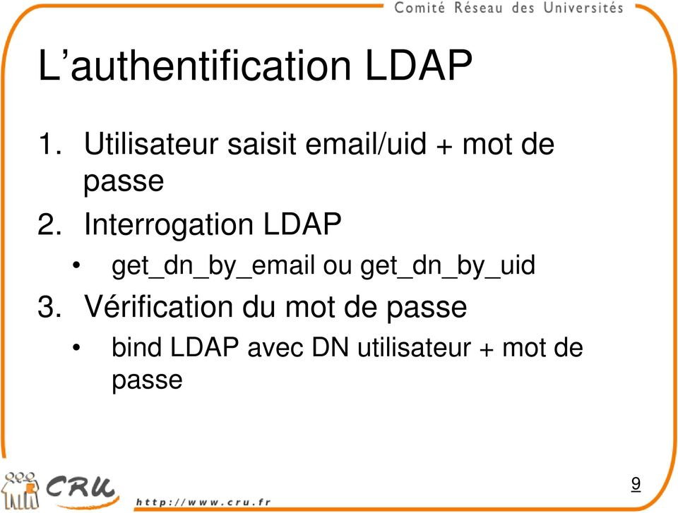 Interrogation LDAP get_dn_by_email ou