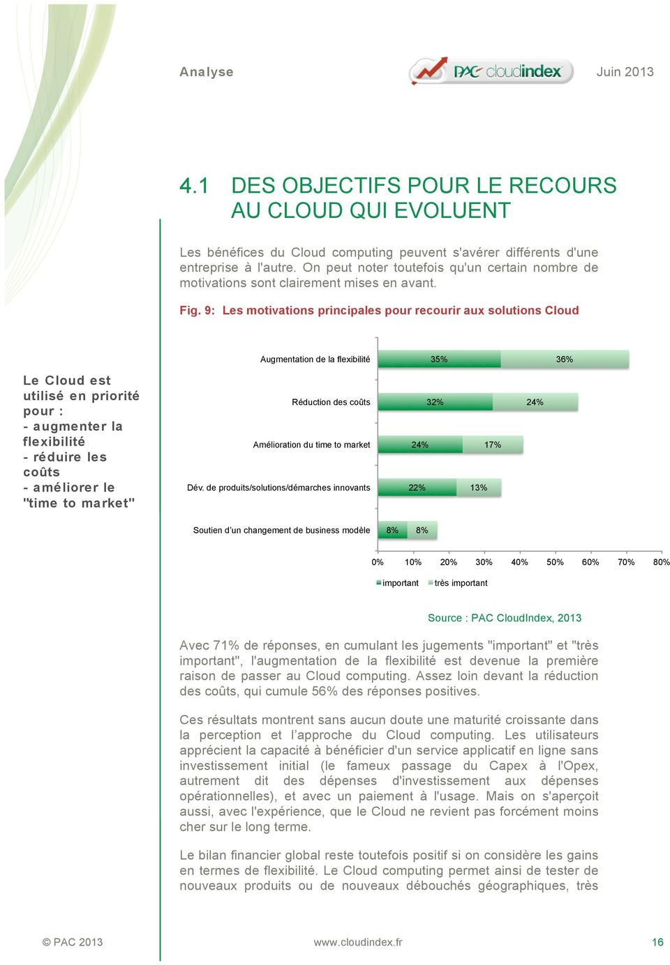 9: Les motivations principales pour recourir aux solutions Cloud Augmentation de la flexibilité 35% 36% Le Cloud est utilisé en priorité pour : - augmenter la flexibilité - réduire les coûts -