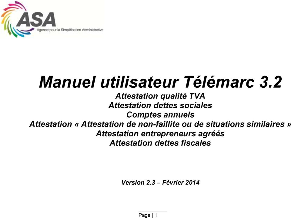 annuels Attestation «Attestation de non-faillite ou de situations
