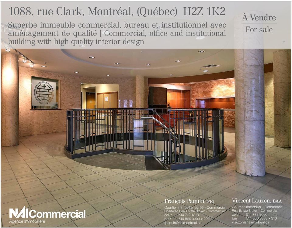 immobilier agréé - Commercial Chartered Real Estate Broker - Commercial cell.