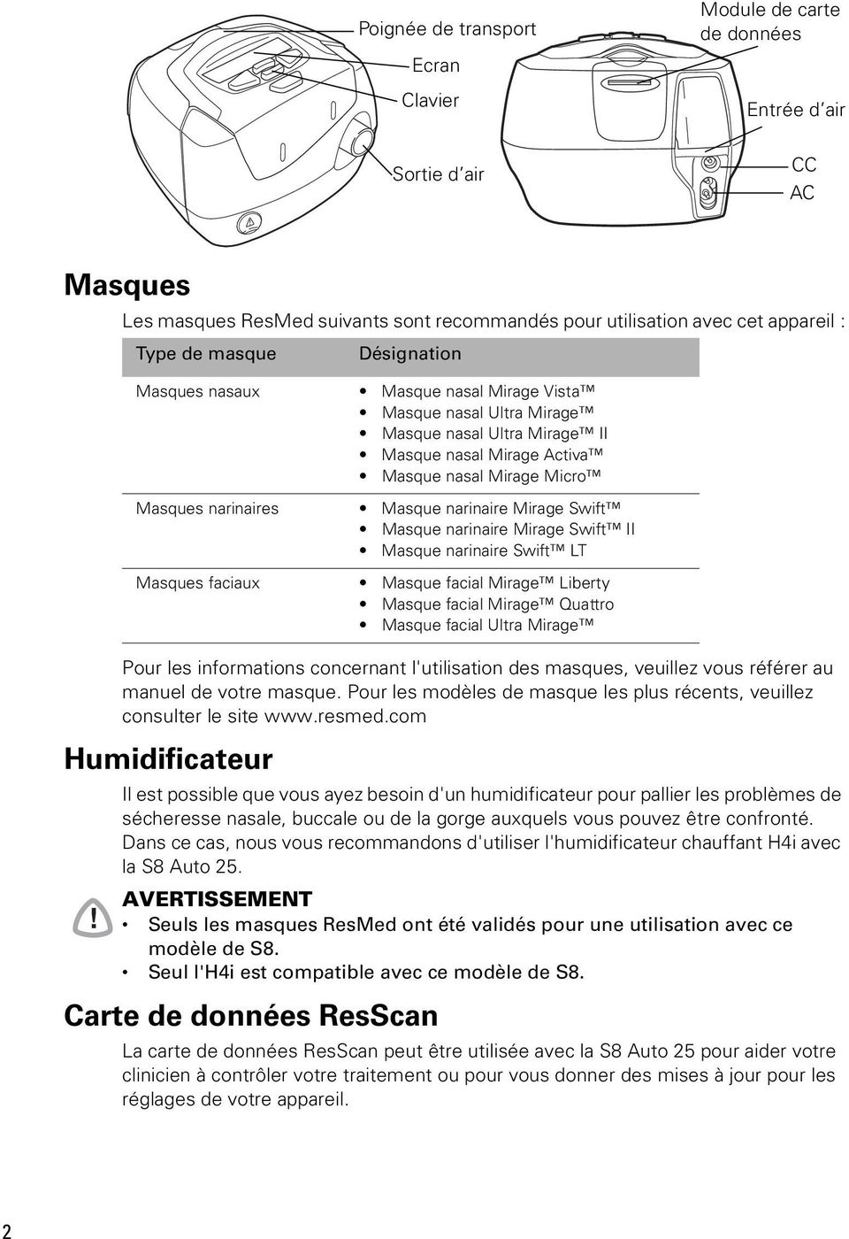 resmed.com Humidificateur!
