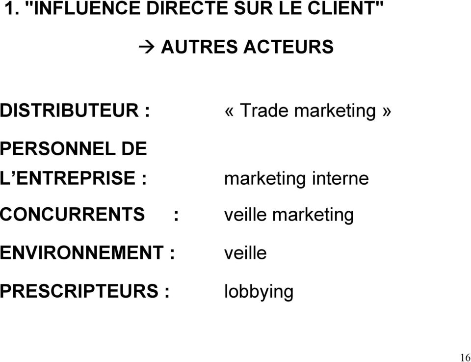 marketing» marketing interne CONCURRENTS : veille