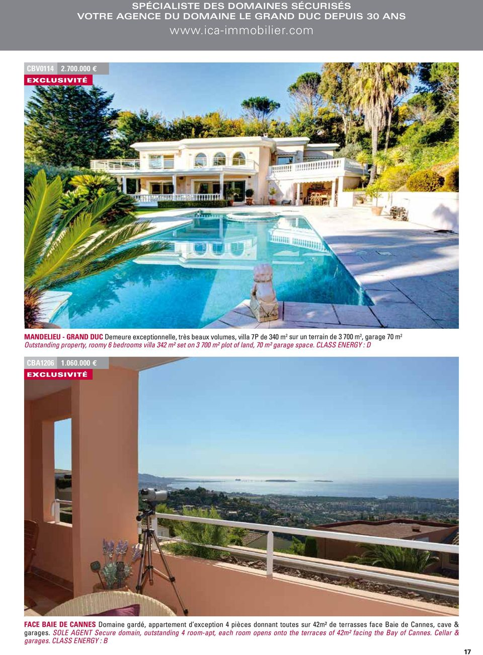 villa 342 m² set on 3 700 m² plot of land, 70 m² garage space. CLASS ENERGY : D CBA1206 1.060.