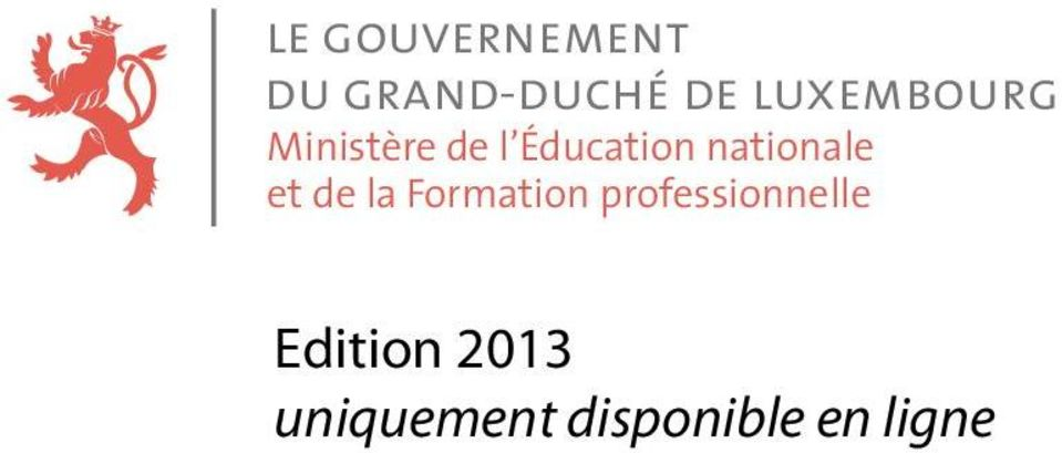 nationale et de la Formation