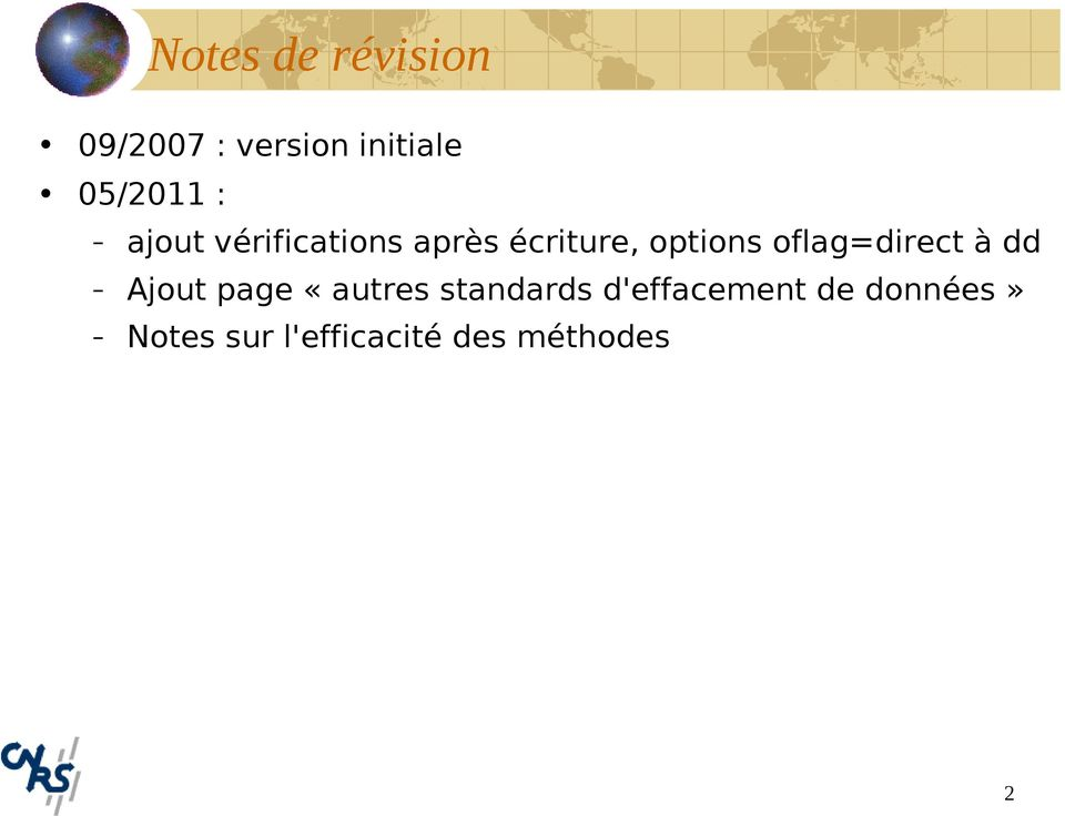 options oflag=direct à dd Ajout page «autres