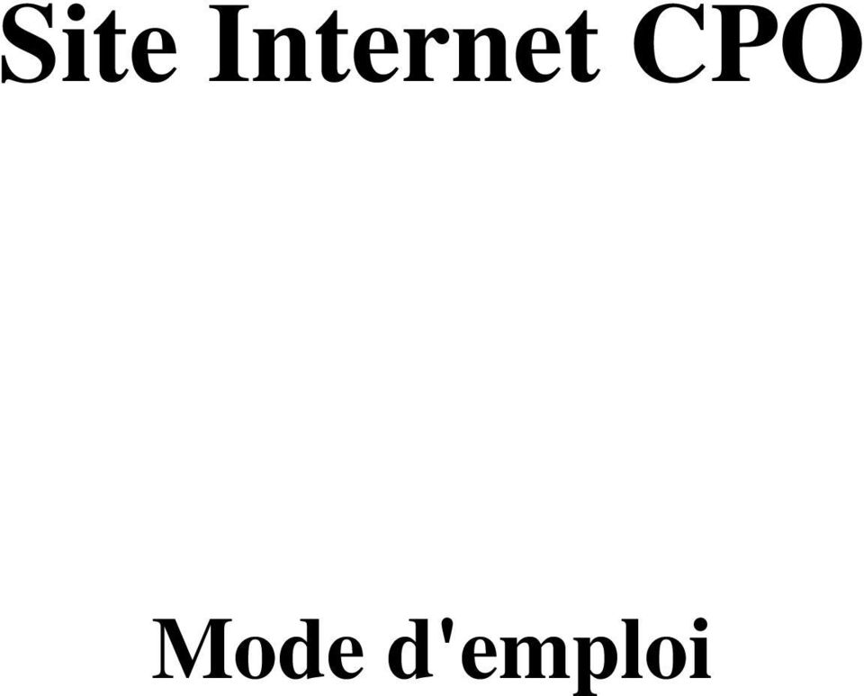 Site internet cpo mode d 39 emploi pdf for Alarme verisure mode d emploi