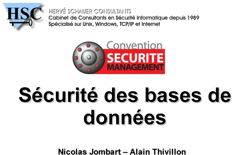 sur Unix, Windows, TCP/IP et Internet Sécurité