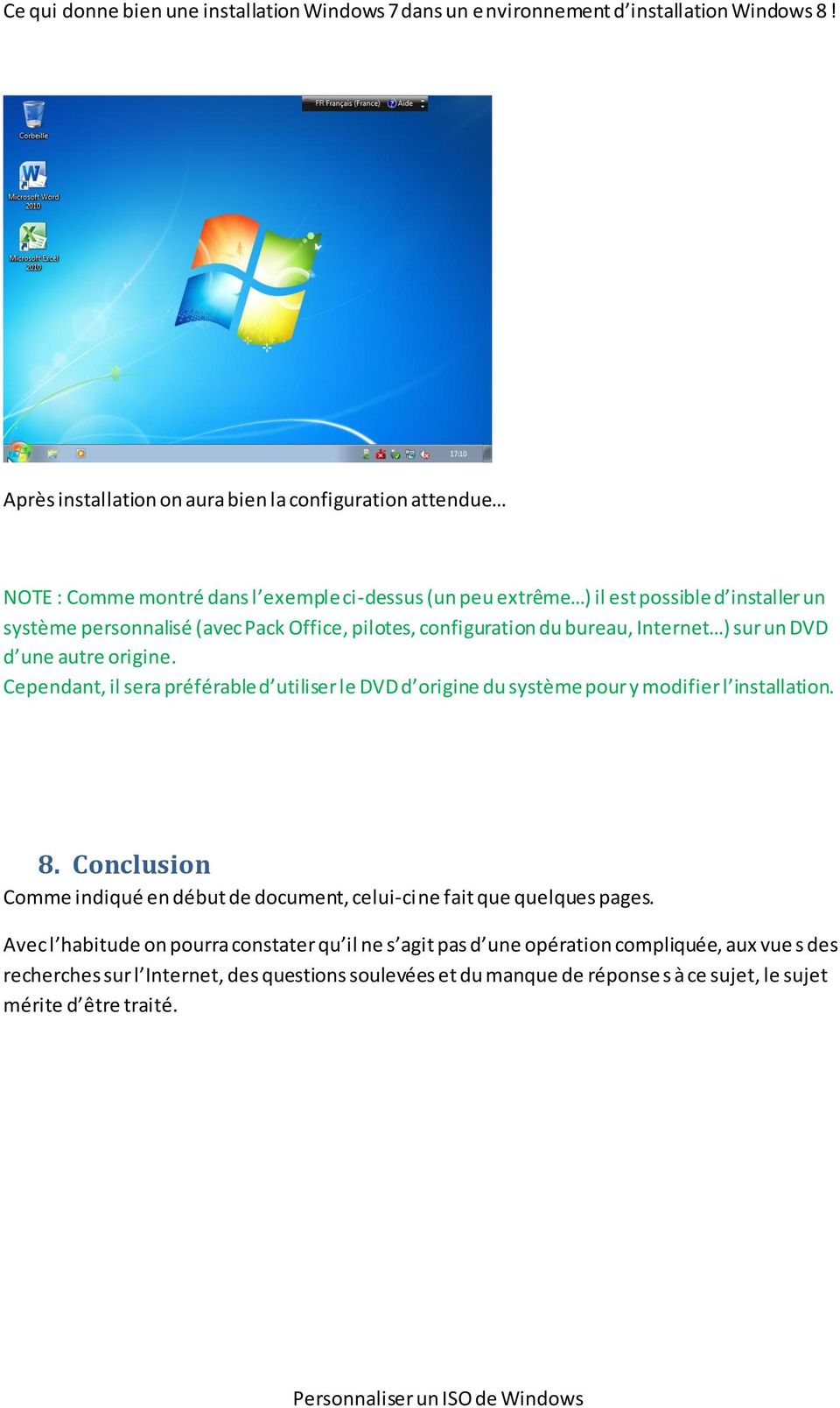 personnaliser Windows 8 installation dvd