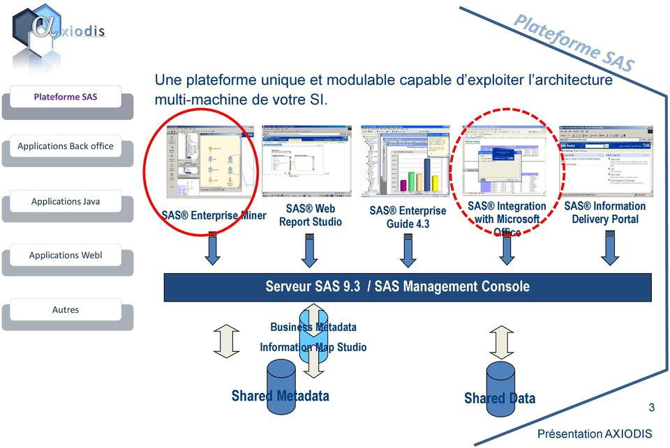3 SAS Integration with Microsoft Office SAS Information Delivery Portal Applications Webl