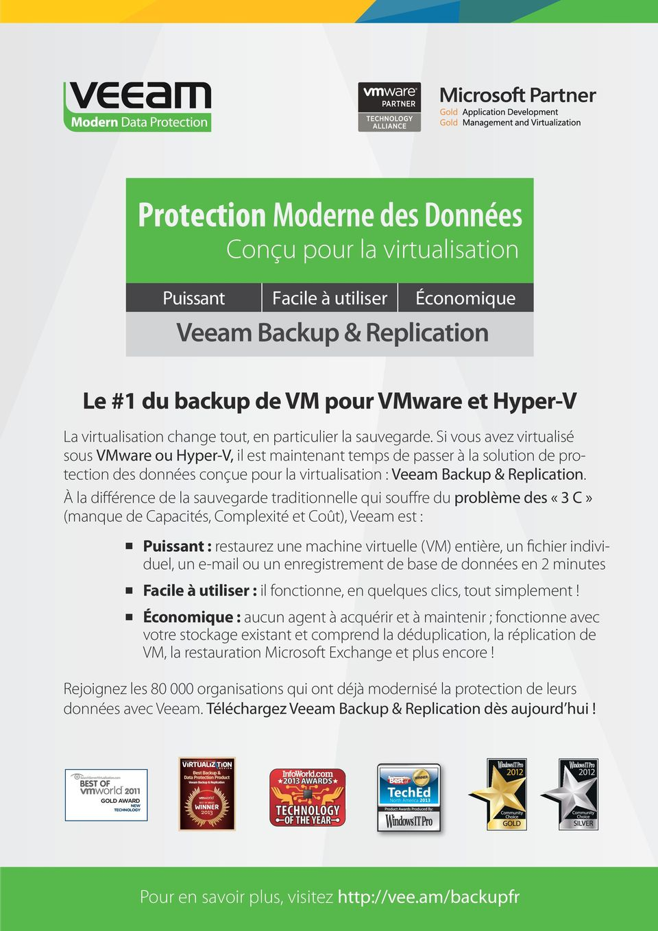 Backup de for VM VMware pour VMware and Hyper-V et Hyper-V Virtualization La virtualisation changes everything tout, en particulier especially la sauvegarde. backup.