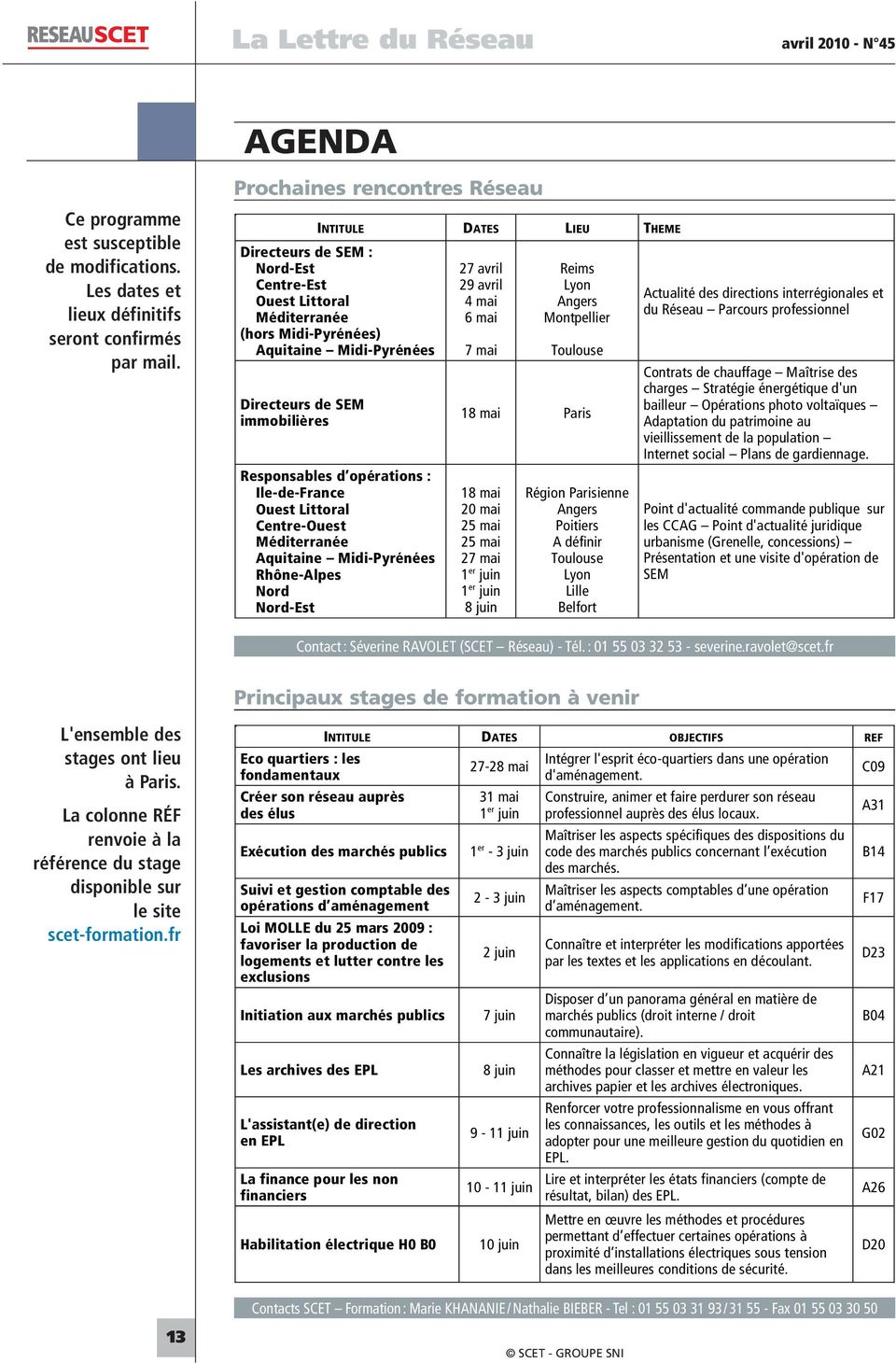 Responsables d opérations : Internet social Plans de gardiennage.