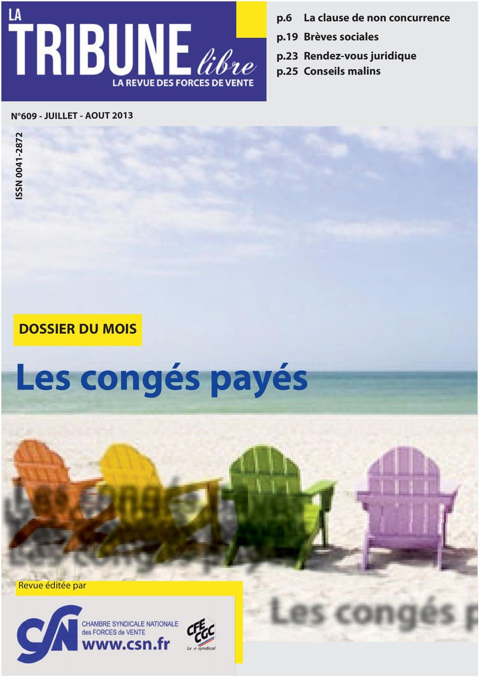 25 Conseils malins N 609 - JUILLET - AOUT 2013