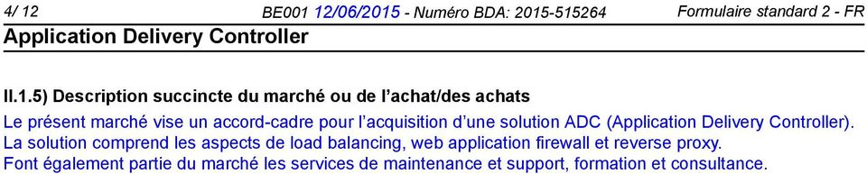 d une solution ADC ().