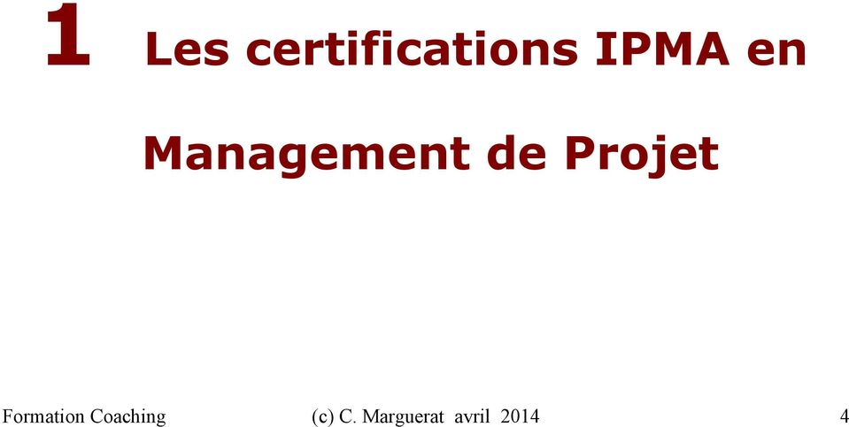 Projet Formation