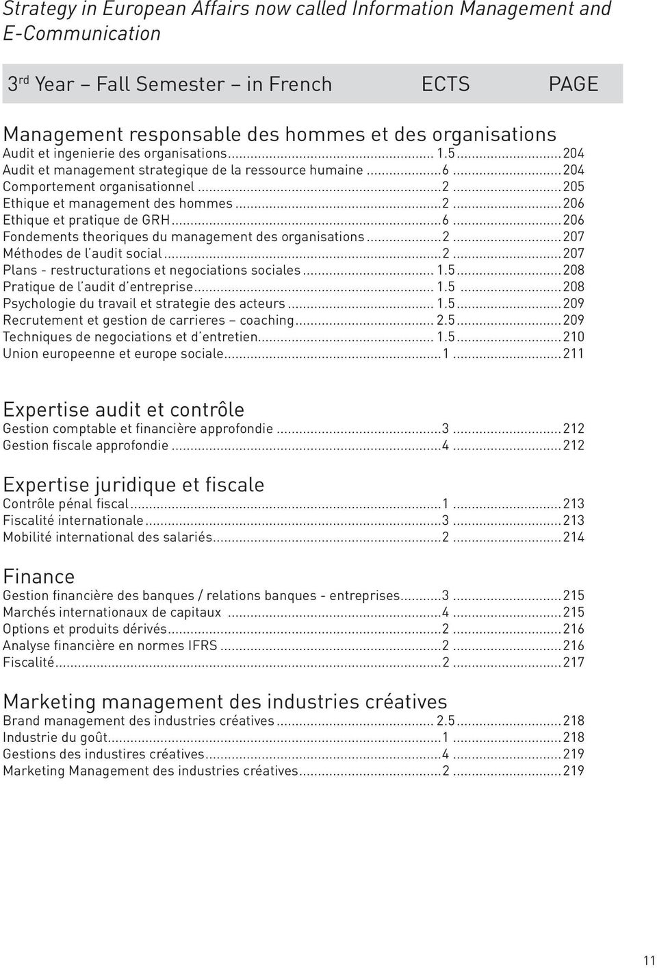 ..6...206 Fondements theoriques du management des organisations...2...207 Méthodes de l audit social...2...207 Plans - restructurations et negociations sociales... 1.5.